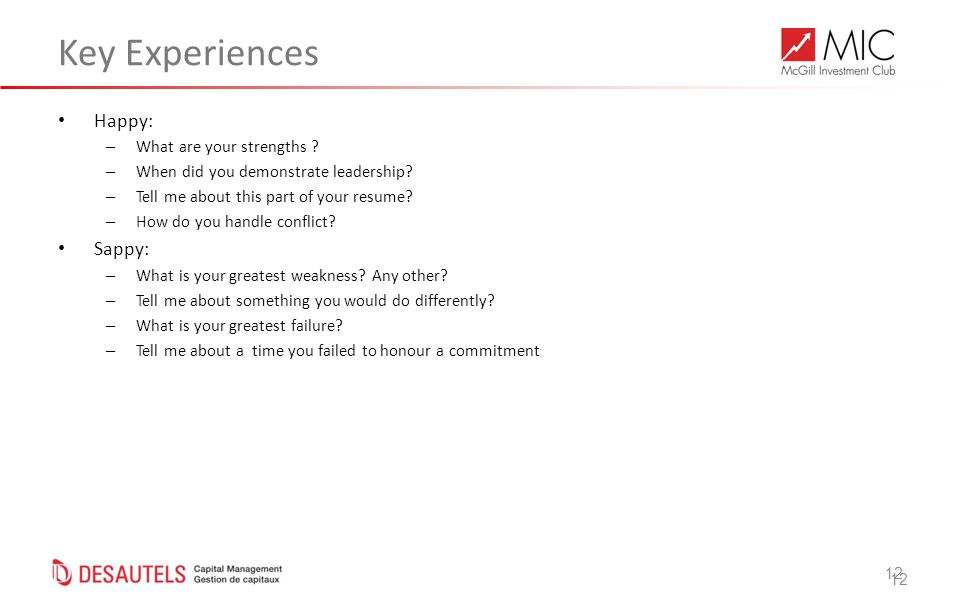 12 Key Experiences Happy: – What are your strengths .