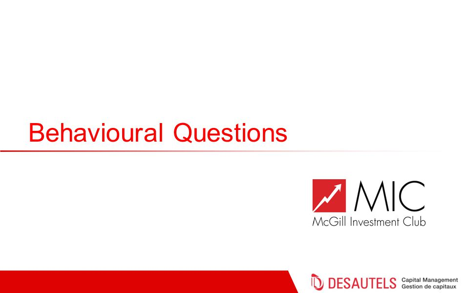 Behavioural Questions
