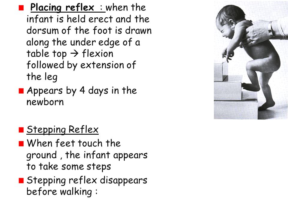 Hopping reaction lateral displacement while standing cause animal to hop to maintain balance
