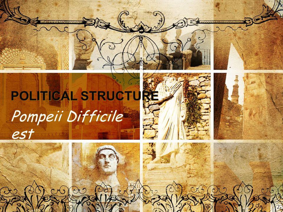 POLITICAL STRUCTURE Pompeii Difficile est