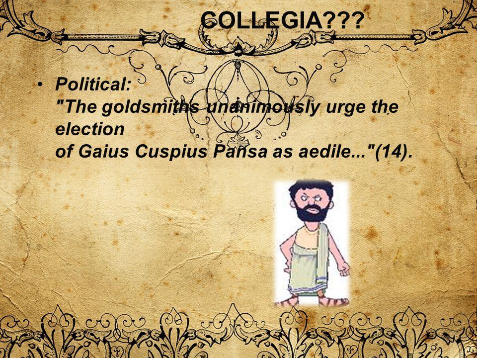 COLLEGIA??? Political: