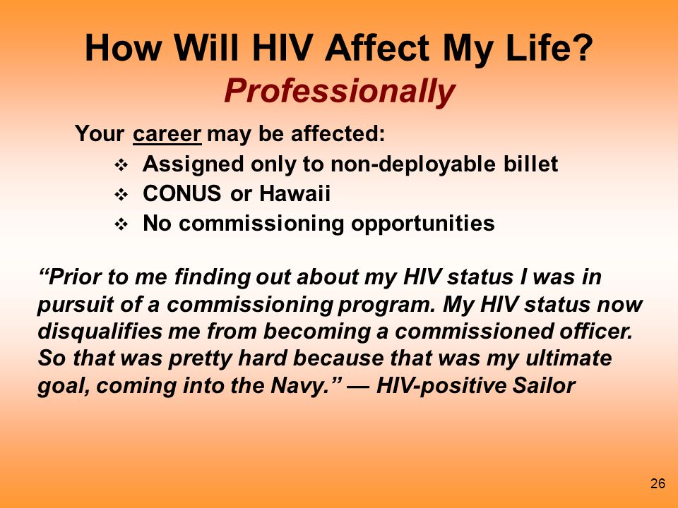 26 How Will HIV Affect My Life.