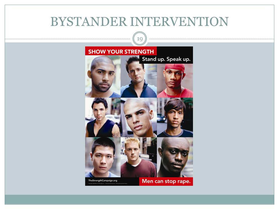 BYSTANDER INTERVENTION 19