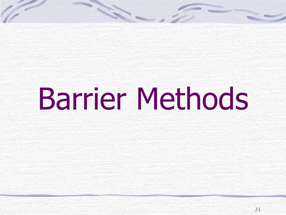 Barrier Methods 31