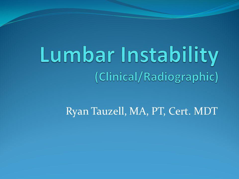 Ryan Tauzell, MA, PT, Cert. MDT