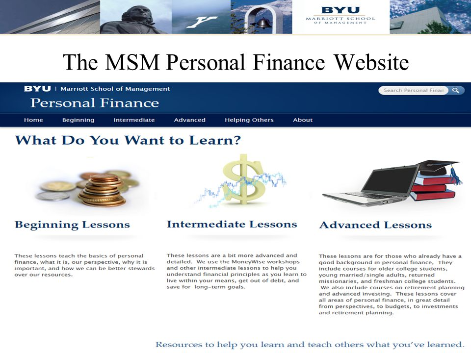 53 The MSM Personal Finance Website