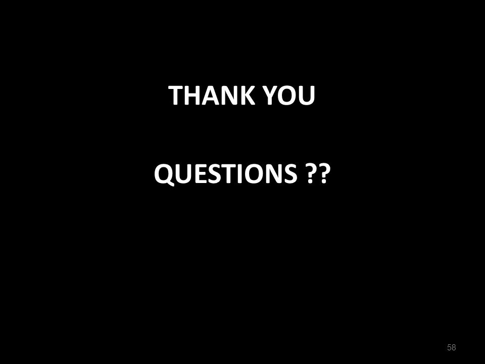 THANK YOU QUESTIONS ?? 58