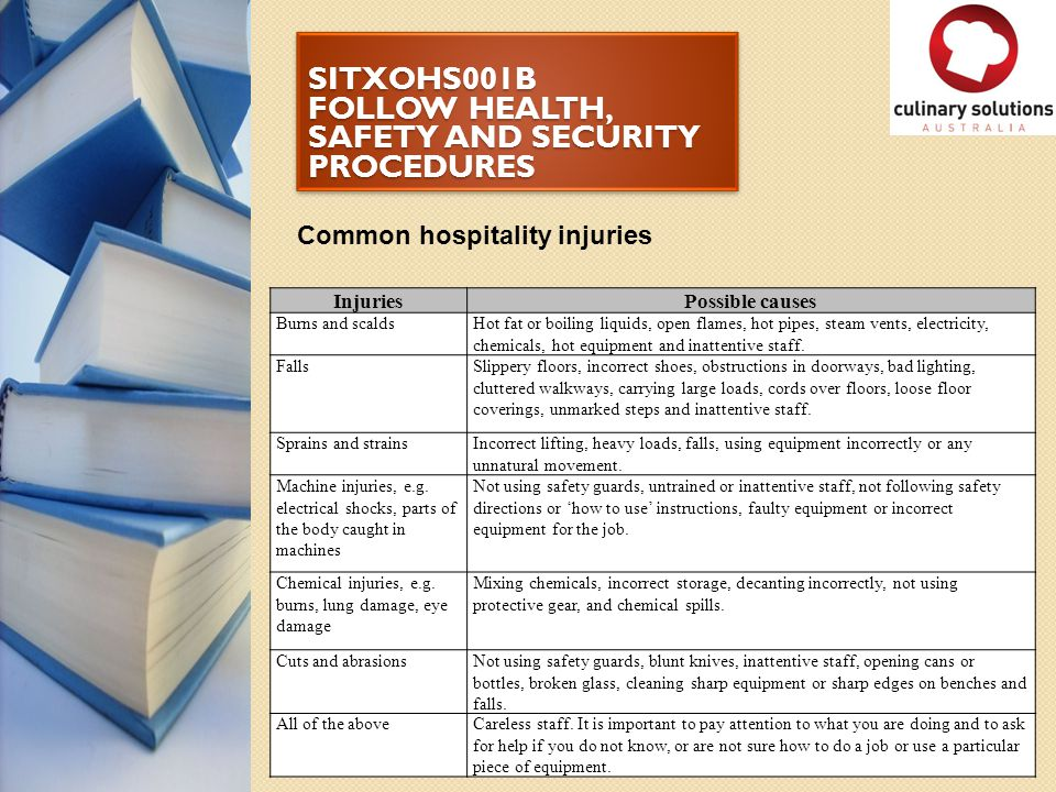 SITXOHS001B FOLLOW HEALTH, SAFETY AND SECURITY PROCEDURES Activity 7 CASE STUDY John is a new employee.