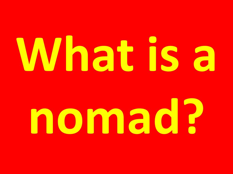 What is a pastoral nomad?