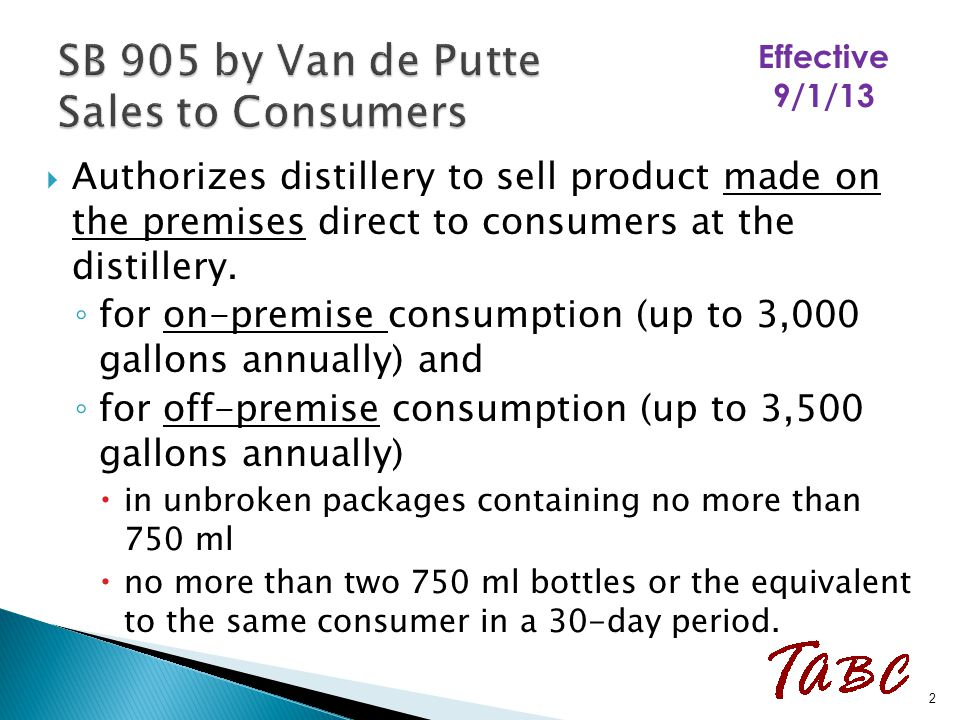  Distilleries not authorized to ship or deliver to consumers.