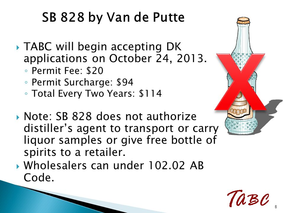  Allows distillers to sell bulk spirits to food processors holding a TABC industrial permit.