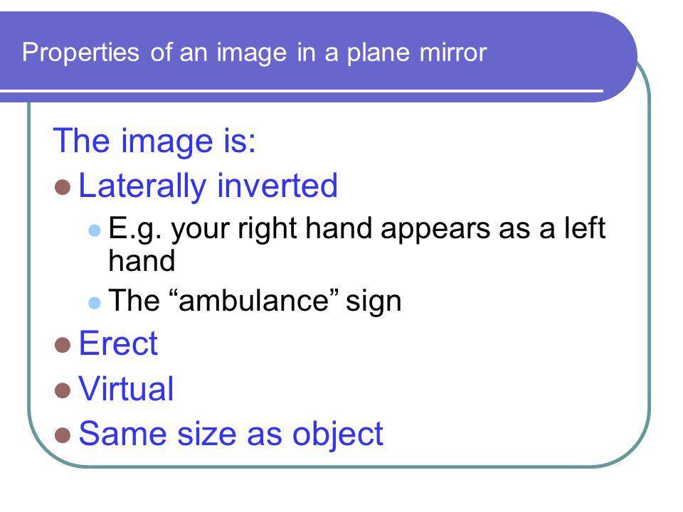 Light (2) Refraction and Lenses