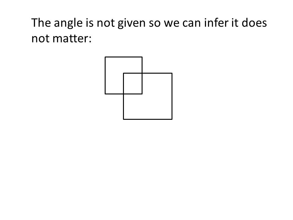 The angle is not given so we can infer it does not matter: