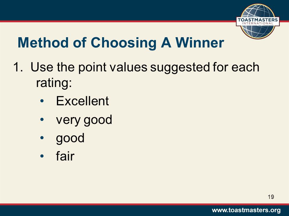 Method of Choosing A Winner 1.