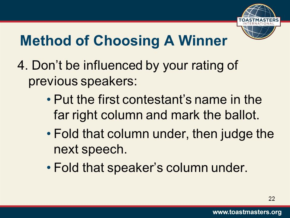 Method of Choosing A Winner 4.