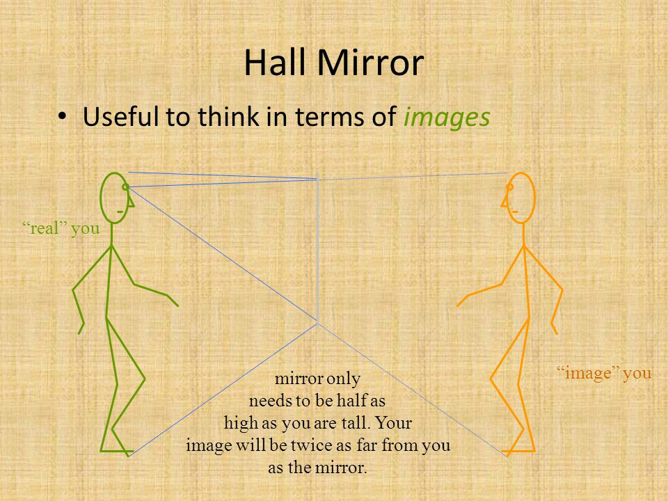 Virtual Images in Plane Mirrors If light energy doesn t flow from the image, the image is virtual .