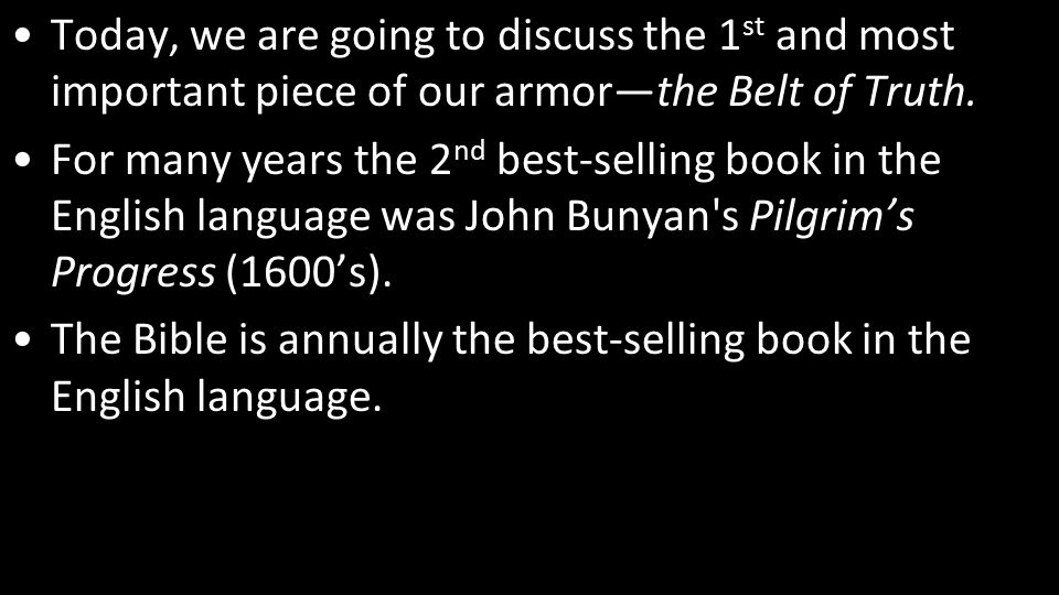 This is what the Belt of Truth did for the Roman soldier.