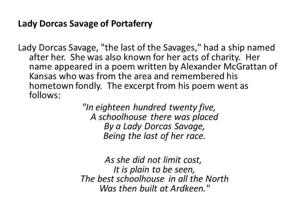 Lady Dorcas Savage of Portaferry Lady Dorcas Savage,