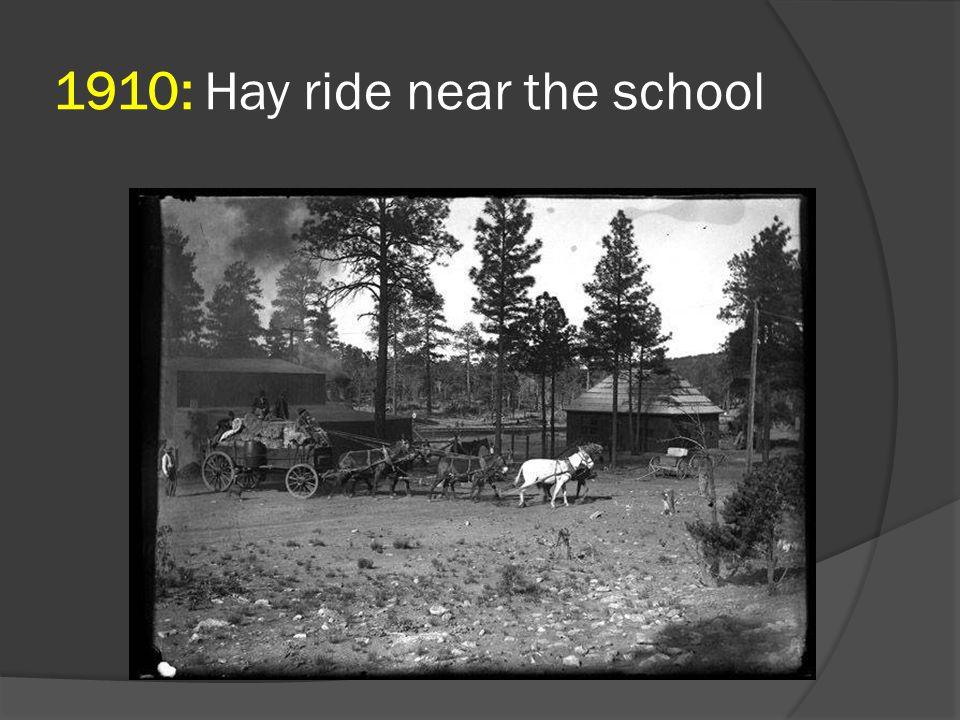 1910: Hay ride near the school