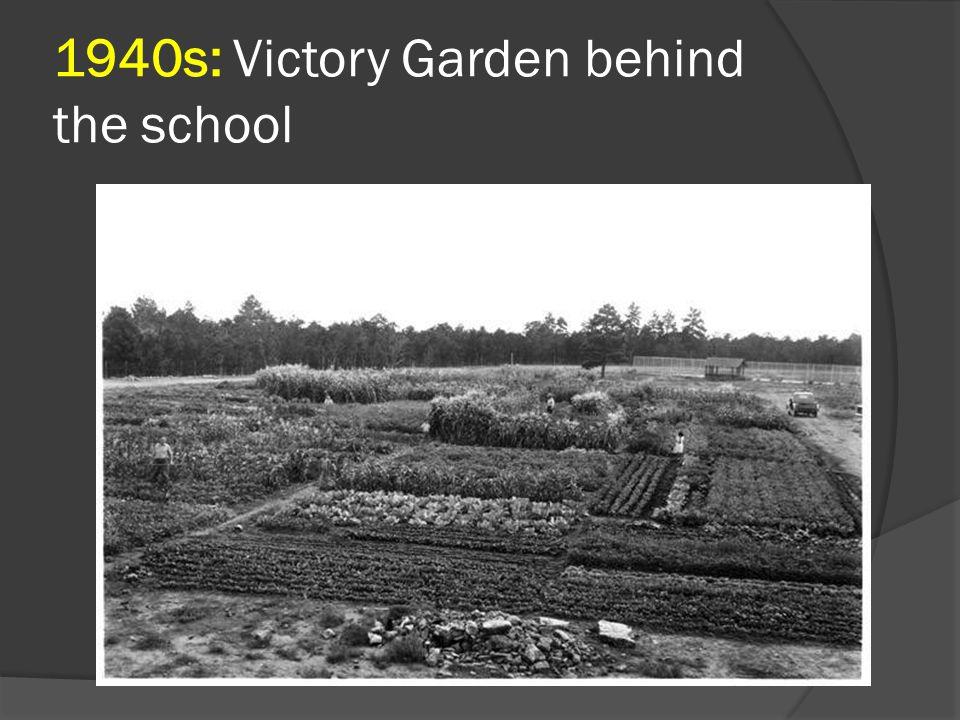 1940s: Victory Garden behind the school