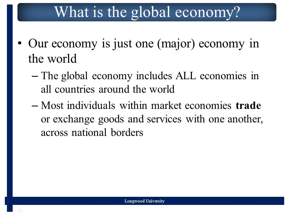 Longwood University What is the global economy.