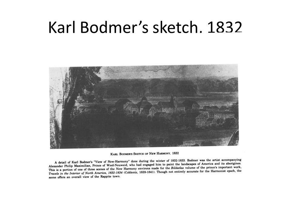 Karl Bodmer's sketch, 1832