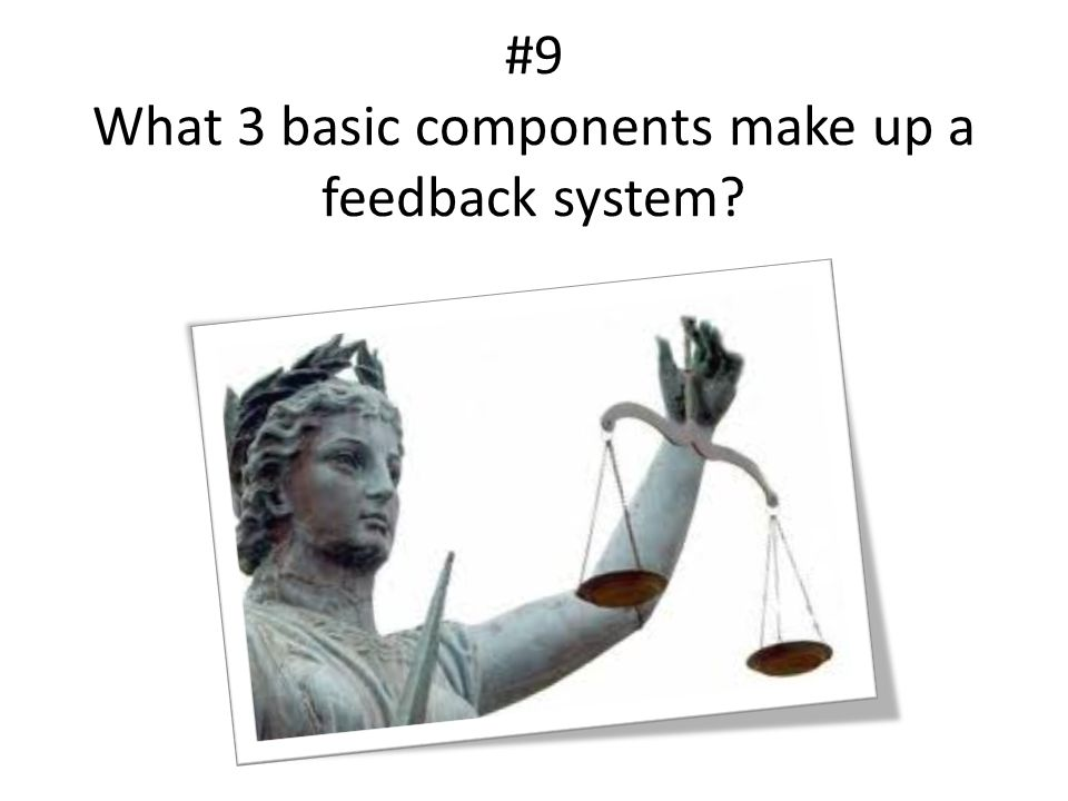 #9 What 3 basic components make up a feedback system?