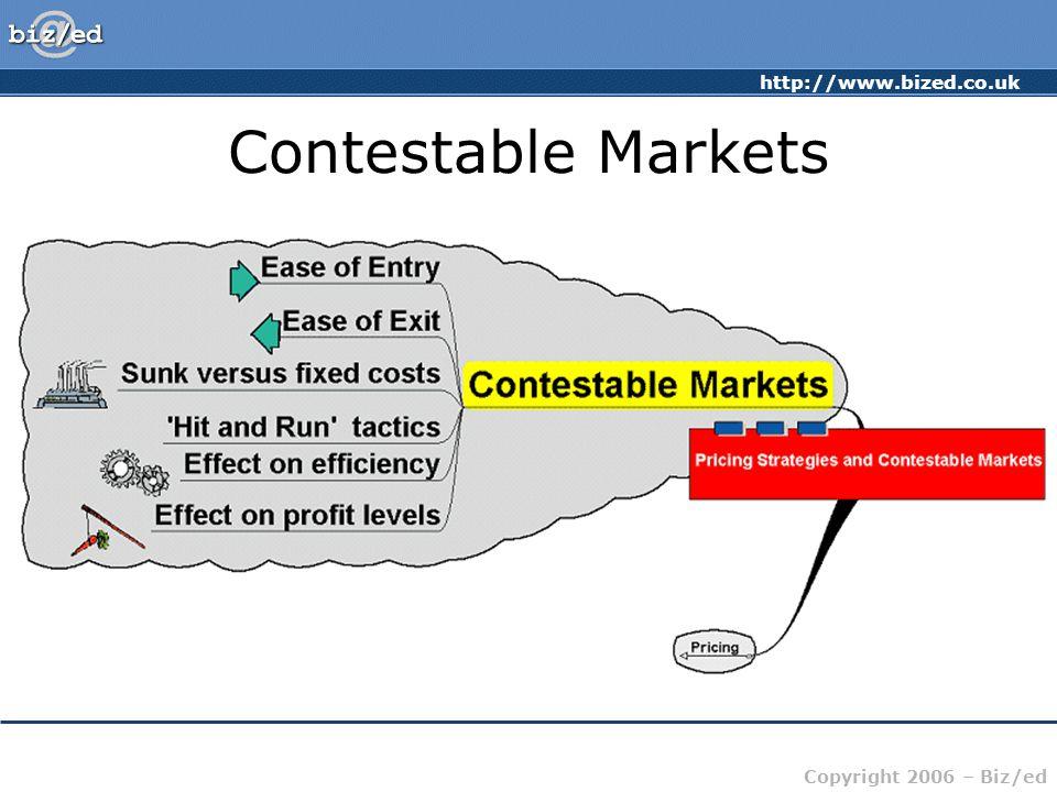 http://www.bized.co.uk Copyright 2006 – Biz/ed Contestable Markets