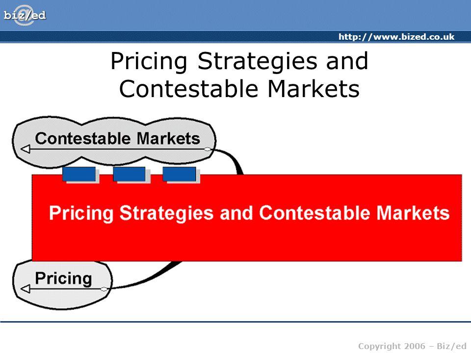 http://www.bized.co.uk Copyright 2006 – Biz/ed Pricing