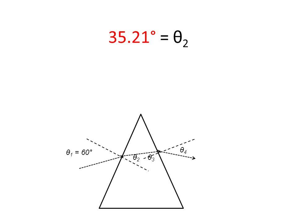 θ 1 = 60° 35.21° = θ 2 θ2 θ2 θ3 θ3 θ4 θ4