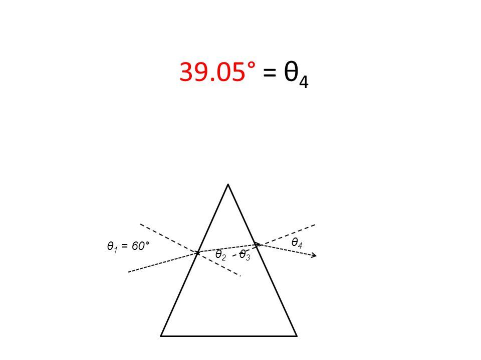 θ 1 = 60° 39.05° = θ 4 θ2 θ2 θ3 θ3 θ4 θ4