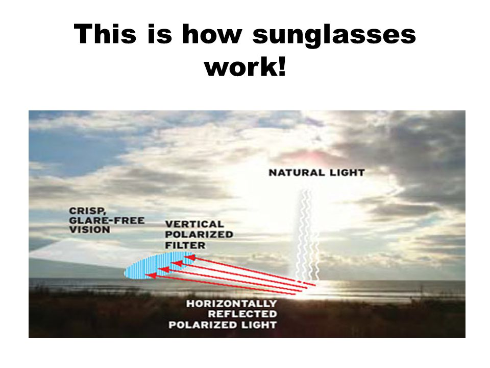 This is how sunglasses work!