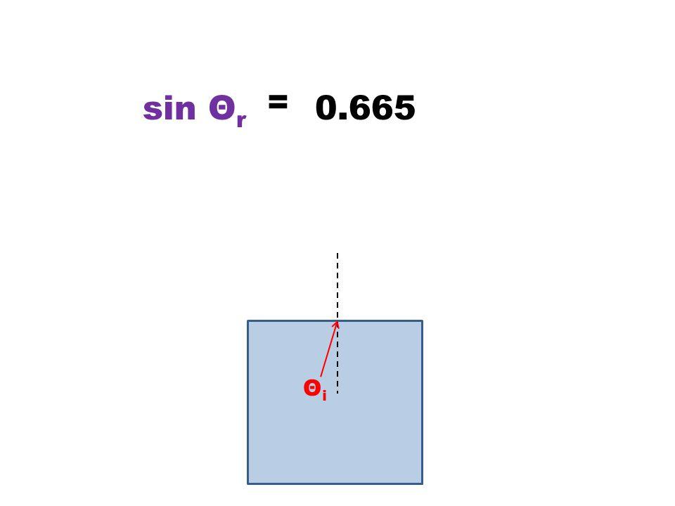 ΘiΘi = 0.665sin Θ r