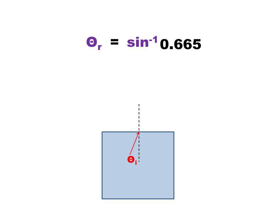 ΘiΘi = 0.665 ΘrΘr sin -1