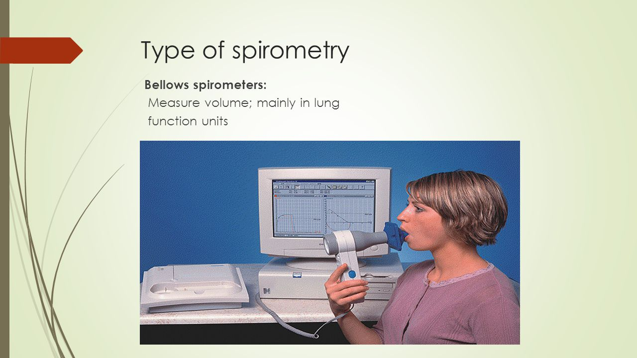 Electronic desk top spirometers : Measure flow and volume with real time display