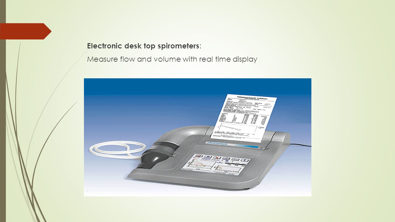 Small hand-held spirometers: Inexpensive and quick to use but no print out