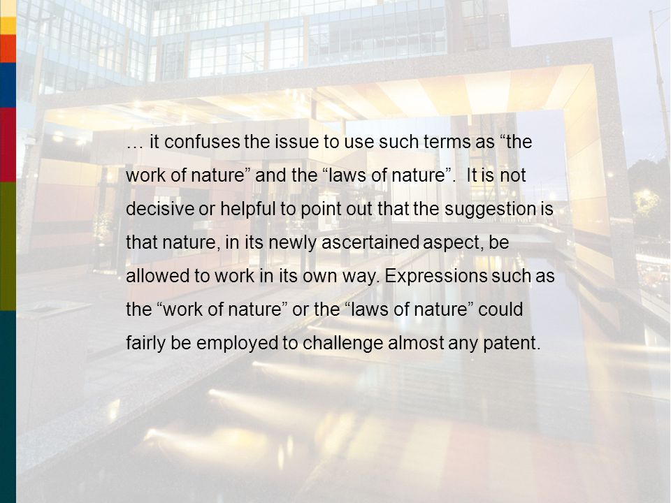 … it confuses the issue to use such terms as the work of nature and the laws of nature .