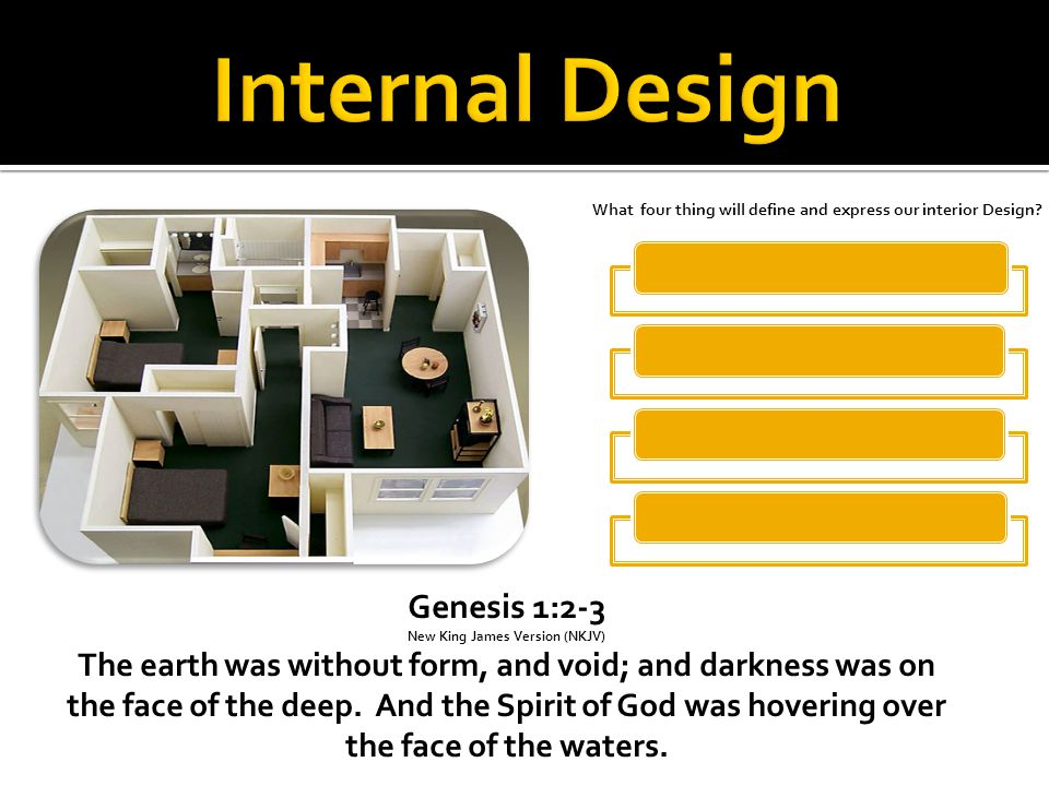 Genesis 1:2-3 New King James Version (NKJV) The earth was without form, and void; and darkness was on the face of the deep.