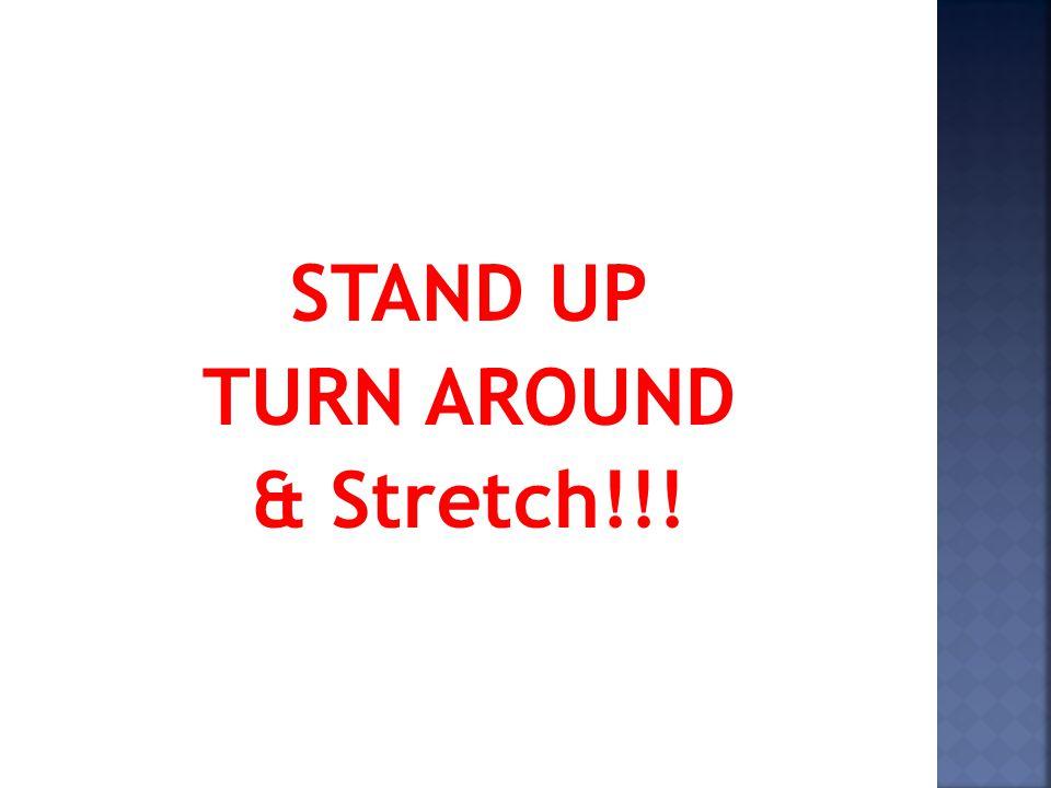 STAND UP TURN AROUND & Stretch!!!
