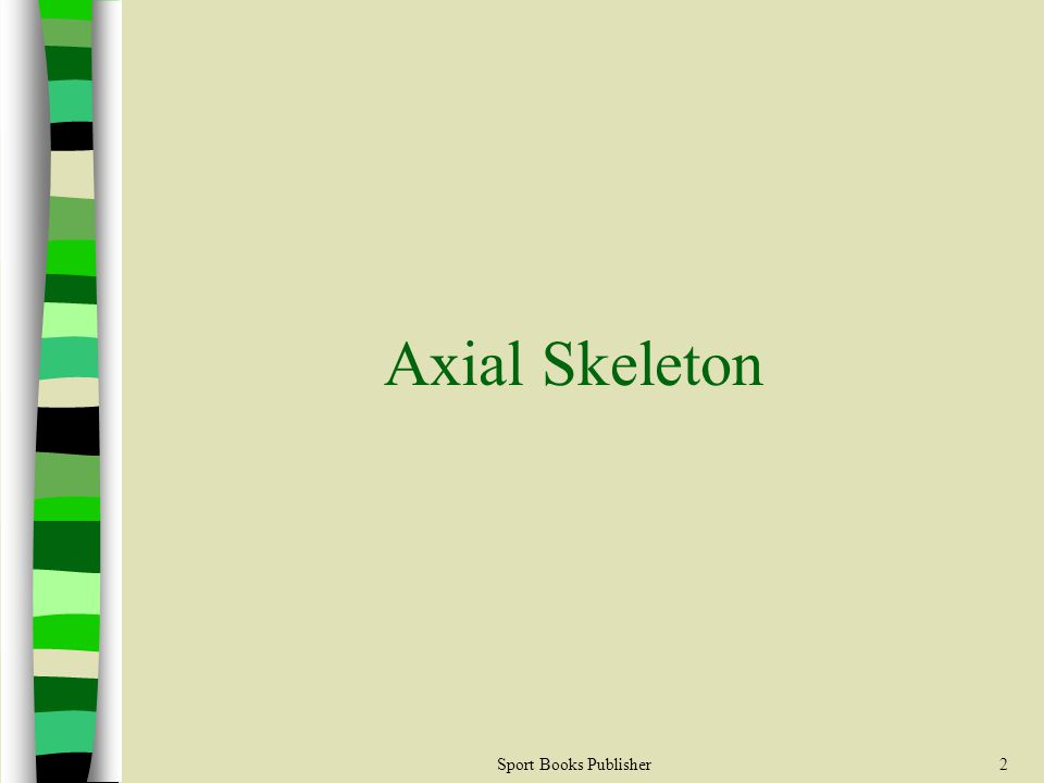 Sport Books Publisher2 Axial Skeleton