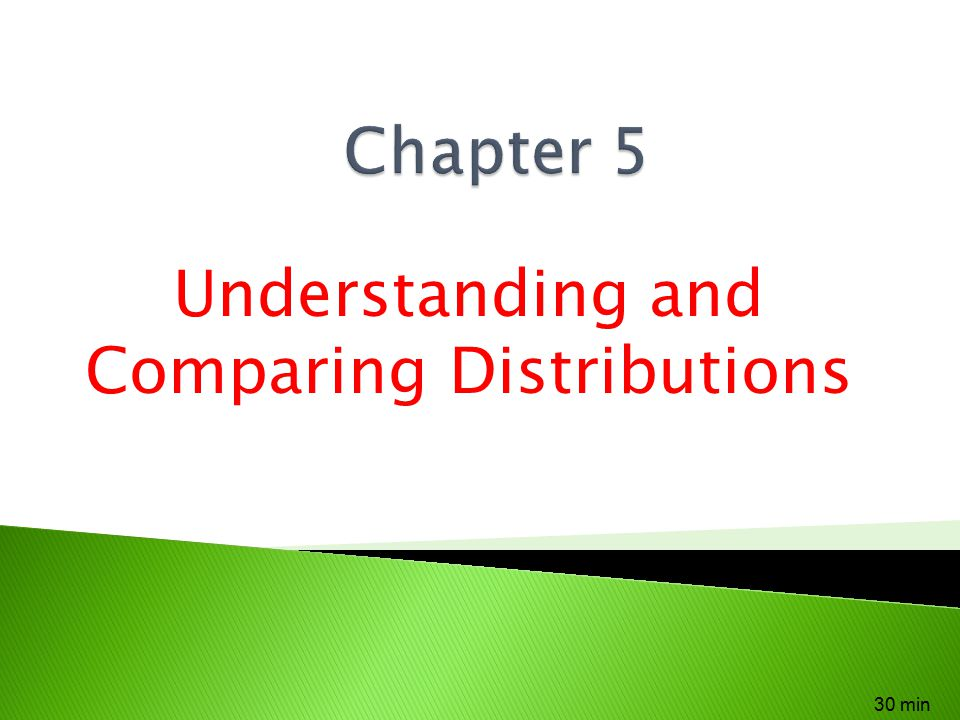 Understanding and Comparing Distributions 30 min