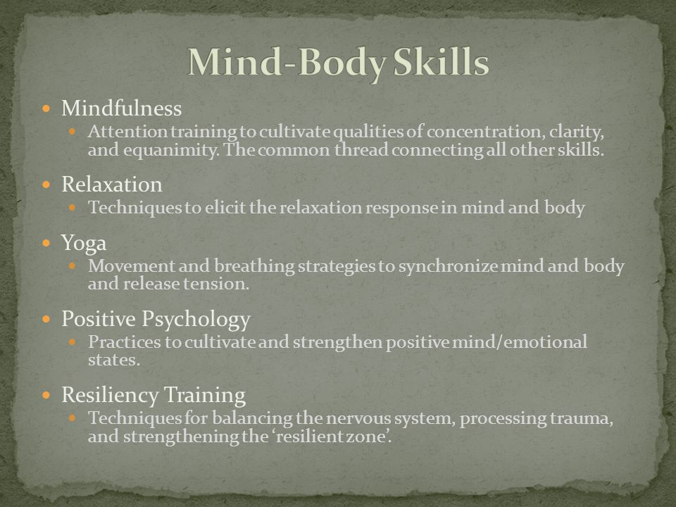 Increasingly, it is being understood that mindful awareness is a cultivatable skill with broad applications through all aspects of society, including education, prison system, politics, business, and even the training of soldiers.