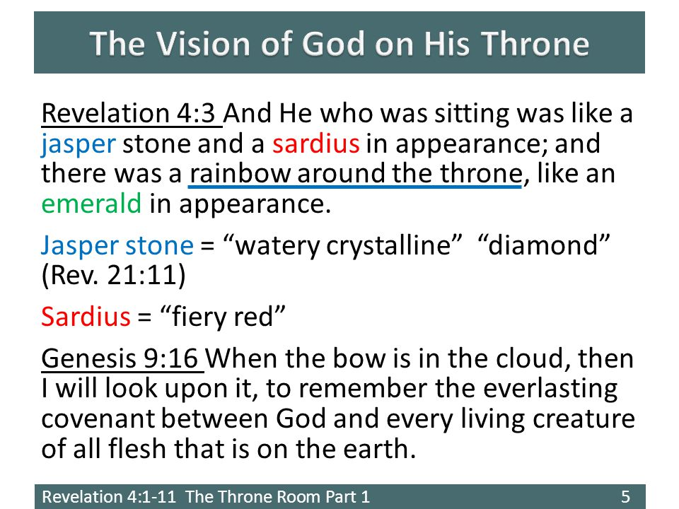 Revelation 4:1-11 The Throne Room Part 1 6 2 Peter 3:3-7 Know this first of all, that in the last days mockers will come with their mocking, following after their own lusts, 4 and saying, Where is the promise of His coming.