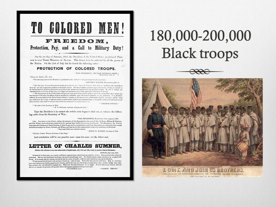180,000-200,000 Black troops