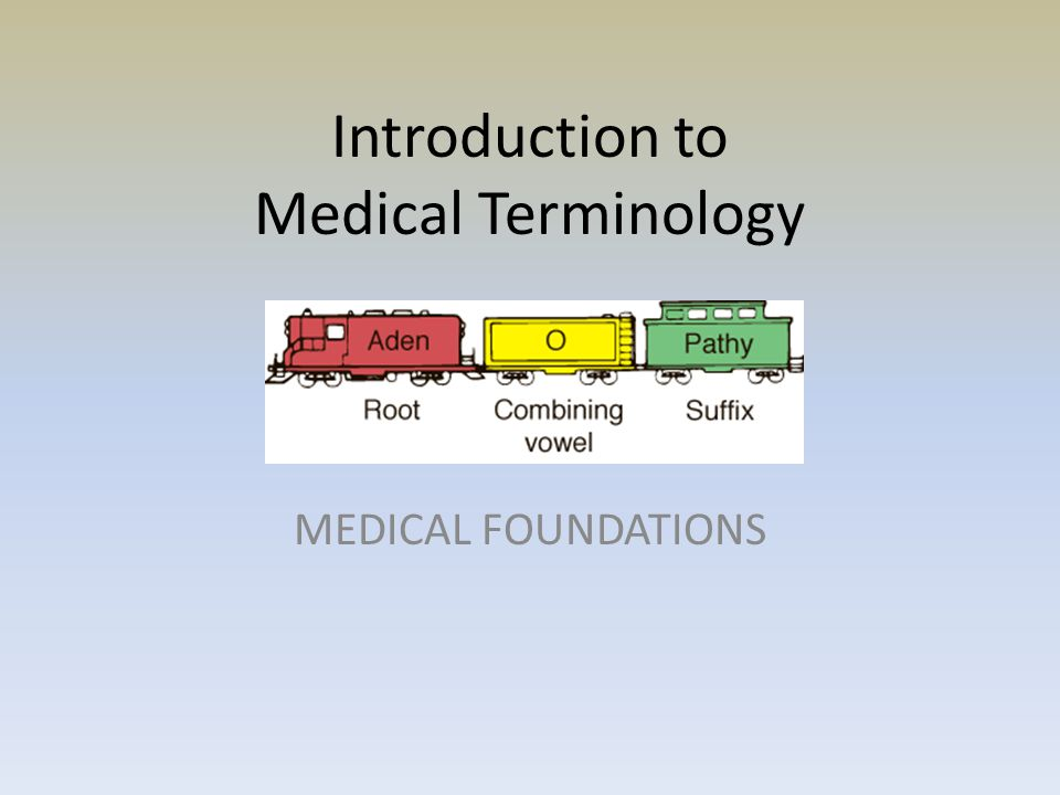 Introduction to Medical Terminology MEDICAL FOUNDATIONS
