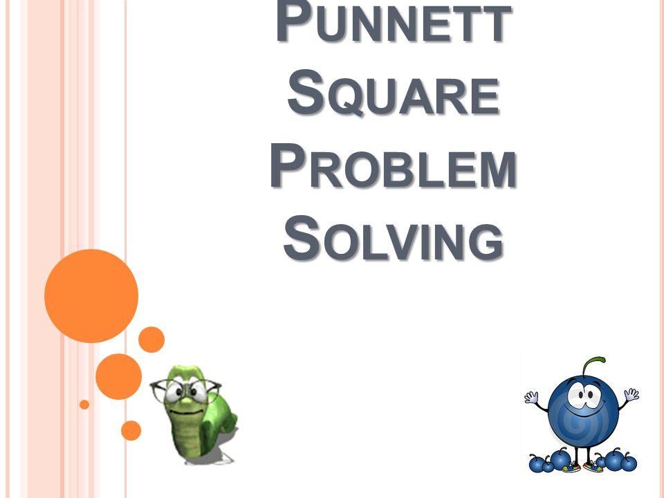 P UNNETT S QUARE P ROBLEM S OLVING