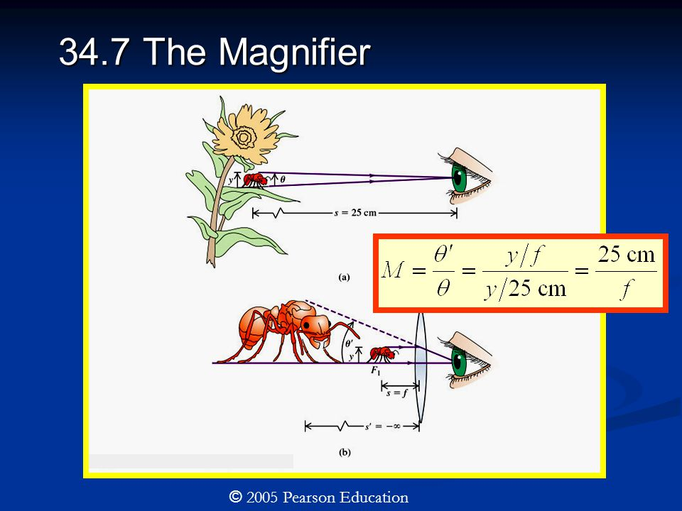 34.7 The Magnifier © 2005 Pearson Education