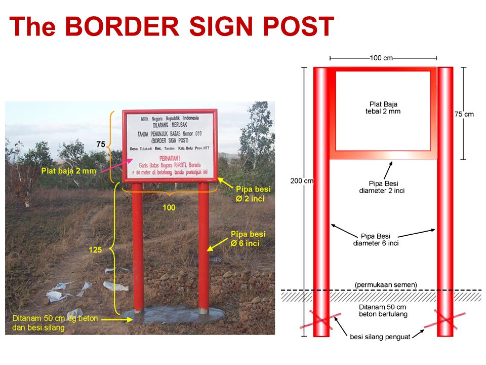 The BORDER SIGN POST