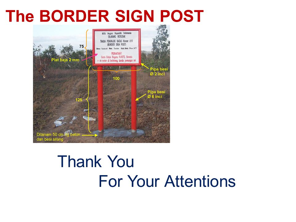 The BORDER SIGN POST Thank You For Your Attentions