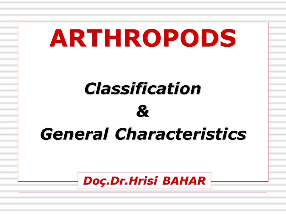 ARTHROPODSClassification& General Characteristics Doç.Dr.Hrisi BAHAR